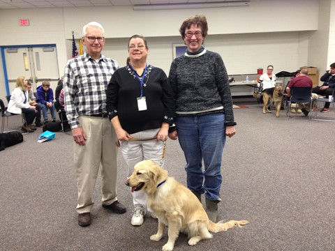 Me and Penny with Dick and Peggy Wanat at Puppy Raiser Night